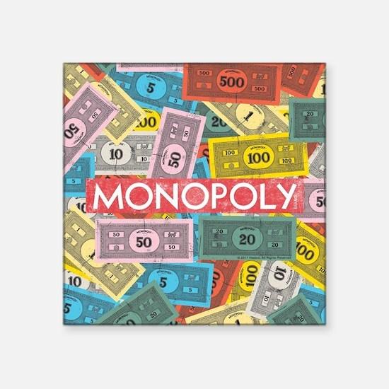 """Monopoly Vintage logo Square Sticker 3"""" x 3"""""""