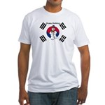 Taekwondo Christmas Fitted T-Shirt