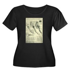 Male Anatomy by Leonardo da Vinc Plus Size T-Shirt