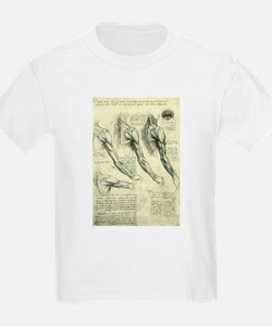 Male Anatomy by Leonardo da Vinci T-Shirt