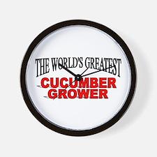 """The World's Greatest Cucumber Grower"" Wall Clock"