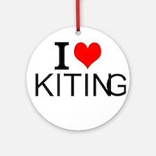 I Love Kiting Ornament (Round)