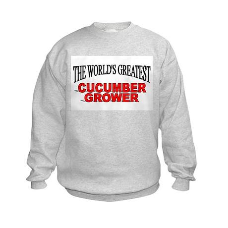 """The World's Greatest Cucumber Grower"" Kids Sweats"