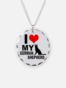 I Love My German Shepherd Necklace