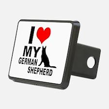 I Love My German Shepherd Hitch Cover