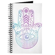 Hamsa Hand Purple and Blue Journal