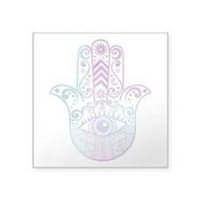 Hamsa Hand Purple and Blue Sticker