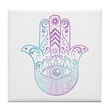 Hamsa Tile Coasters