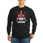 Pinson Family Crest Long Sleeve Dark T-Shirt