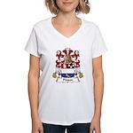 Pinson Family Crest Women's V-Neck T-Shirt