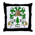 Pinot Family Crest  Throw Pillow