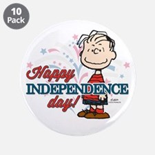 """Linus - Happy Independence D 3.5"""" Button (10 pack)"""