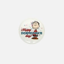 Linus - Happy Independence D Mini Button (10 pack)