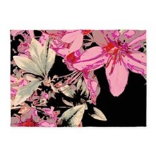 Contrasted Lilies 5'x7'Area Rug