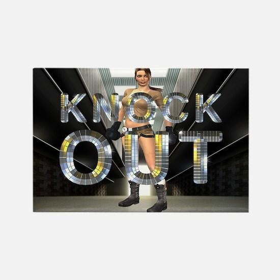 Knockout Rectangle Magnet
