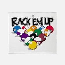 Rack Em Up Pool Throw Blanket