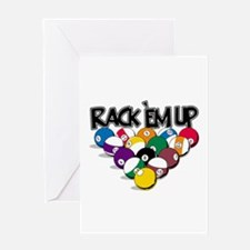 Rack Em Up Pool Greeting Card