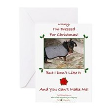 Funny Dachshund christmas Greeting Cards (Pk of 20)
