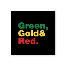 Green, Gold and Red. Sticker