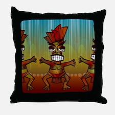 Tiki Men Throw Pillow