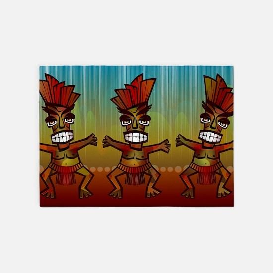Tiki Men 5'x7'Area Rug