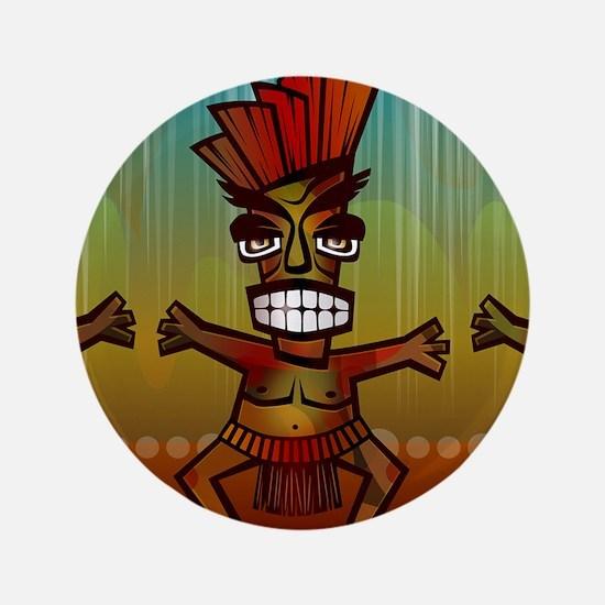 "Tiki Men 3.5"" Button (100 pack)"