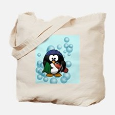 Swimmer Penguin Swimming Tote Bag