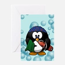 Swimmer Penguin Swimming Greeting Cards