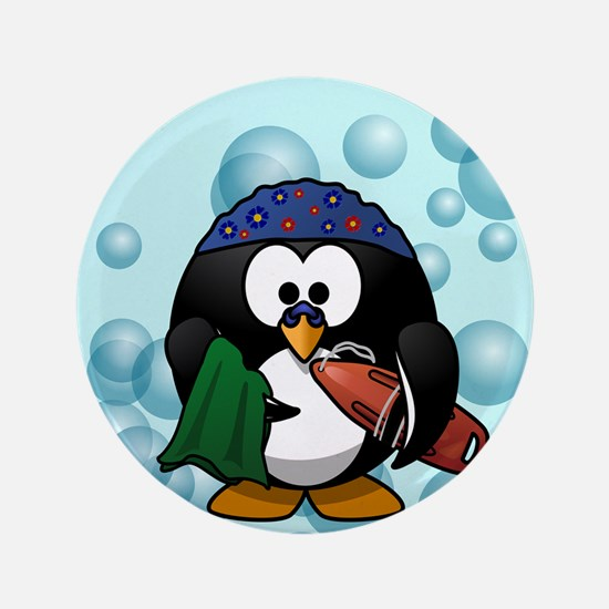 Swimmer Penguin Swimming Button