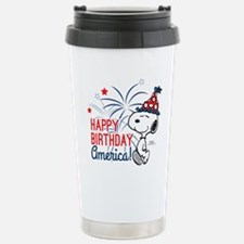 Snoopy - Happy B-Day Am Stainless Steel Travel Mug