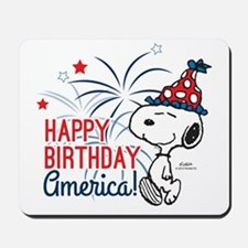 Snoopy - Happy B-Day America Mousepad