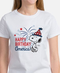 Snoopy - Happy B-Day America Tee