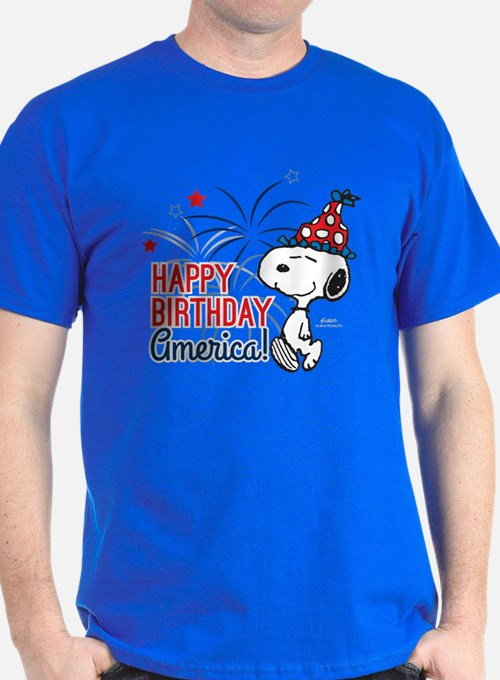 Snoopy - Happy B-Day America T-Shirt