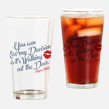 Kiss My Decision Nashville Drinking Glass