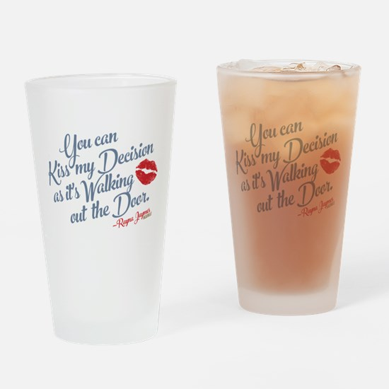 Kiss My Decision Nashville Drinking Glass