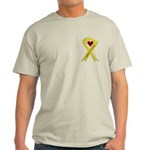 Support Our Air Force Yellow Ribbon Ash Grey T-Shi