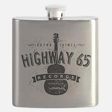 Highway 65 Records Nashville Flask