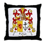 Pichot Family Crest Throw Pillow