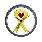 Support Our Air Force Yellow Ribbon Wall Clock