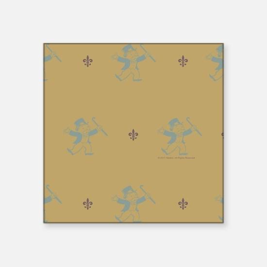 "Monopoly Dancing Rich Uncle Square Sticker 3"" x 3"""