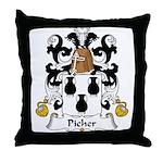 Picher Family Crest Throw Pillow