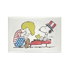 Snoopy - Vintage Schroeder Rectangle Magnet