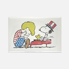 Snoopy - Vintage Schroe Rectangle Magnet (10 pack)