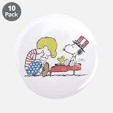 """Snoopy - Vintage Schroeder 3.5"""" Button (10 pack)"""