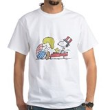 Peanuts fourth of july Mens White T-shirts