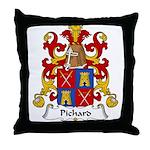 Pichard Family Crest Throw Pillow