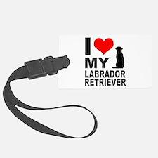 I Love My Labrador Retriever Luggage Tag