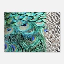 Peacock Feathers 5'x7'Area Rug