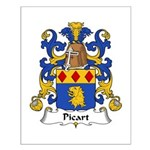 Picart Family Crest  Small Poster