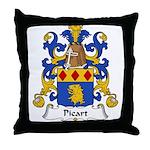 Picart Family Crest  Throw Pillow